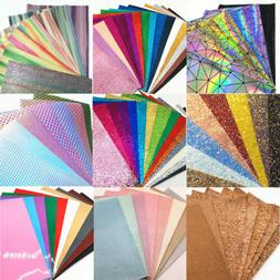Assorted Pack Bundle Glitter Vinyl Fabric Faux Leather Holog