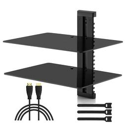 Av Floating Shelf Wall Double Mount Dvd Component Console Me
