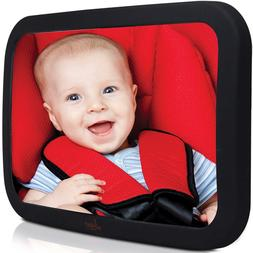 Baby Backseat Mirror For Car Largest and Most Stable with Pr
