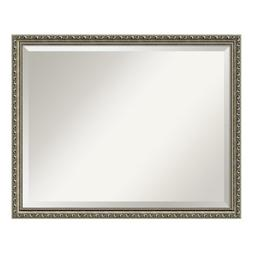 Bathroom Mirror Large, Parisian Silver: Outer Size 31 x 25""