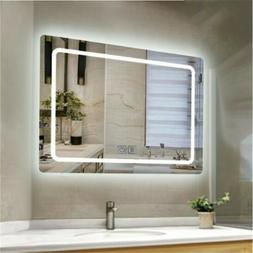 Bathroom Mirror Anti-Fog Switch Wall Makeup Mirrors with LED