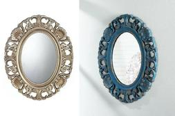 bathroom mirrors for wall oval shabby chic