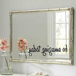 Be Amazing Today Vinyl Wall Mirror Decal Stickers for Home D