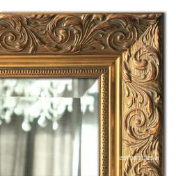 West Frames Bella Ornate Embossed Antique Gold Wall Framed M