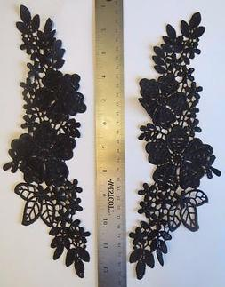 Black Color embroidered Applique Mirrored Set great for danc