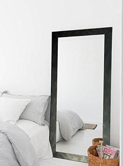 BrandtWorks Clouded Gunmetal Floor Tall Vanity Wall Mirror,