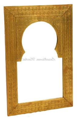Casablanca Market Brass Antique Wall Mirror