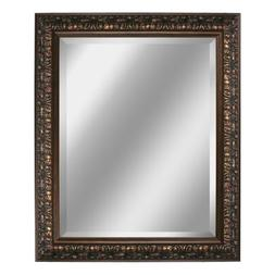 Head West Bronze Ornate Mirror, 28-1/2 by 34-1/2-Inch