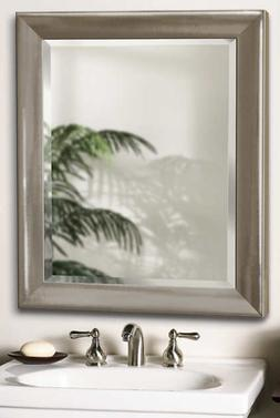 Brushed Nickel Finish Elegant Mirror Hand Crafted In USA.