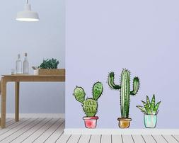 Cactus Wall Decal for Home Interior Decoration Car Laptop Wi