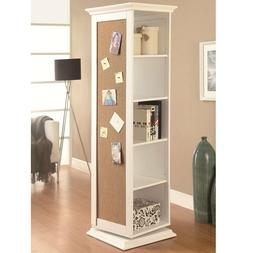 Coaster Home Furnishings Swivel Accent Cabinet with Cork Boa