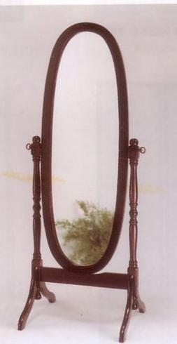 Cherry Finish Cheval Mirror By Acme Furniture