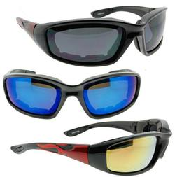 CHOOSE YOUR COLOR FLAMES ON ARMS SMOKE OR MIRROR LENS BIKER
