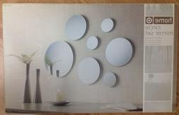 "Circle Mirrors Round Set of 7 Wall Decor 3x 3"", 3x 6"" An"