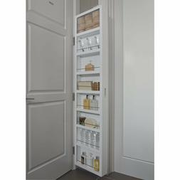 Behind Door Kitchen Pantry Storage Closet White Cabinet Orga