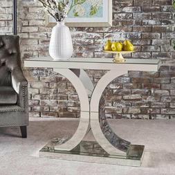 Mirrored Console Table for Entryway Contemporary Living Room