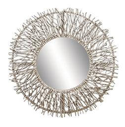 contemporary metal wood round framed