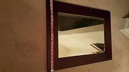 Contemporary Solid  Wood  Wall  Mount  Mirror  for Bathrooms
