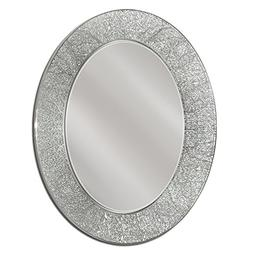 Head West 23 x 29 Coral Oval Mirror, 23x29 inches