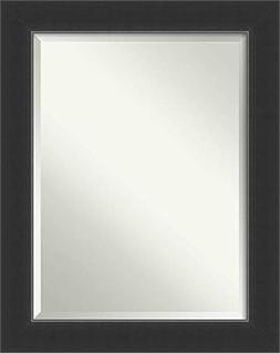 Amanti Art Corvino Black Bathroom Mirror Medium Large, Large
