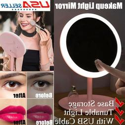 Cosmetic Make Up Backlit Mirror Tabletop Vanity Touch Screen