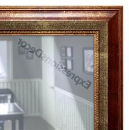 Custom Rusted Gold Flat Glass Decorative Wall Mirror, Mantle