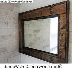 Herringbone Reclaimed Wood Framed Mirror, Available in 4 Siz