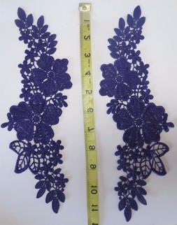 Dark Purple Color embroidered Appliques great for dance cost