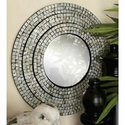 DecMode Contemporary Round Wall Mirror - Set of 2, Multicolo