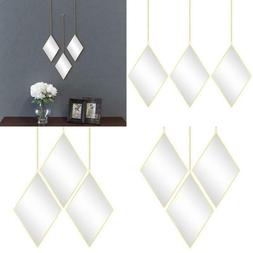 Decorative Hanging Wall Mirrors Diamond for Living Room Bedr
