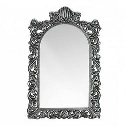 Decorative Home Decor Wall Mirror Grand Silver Wood Frame Ba
