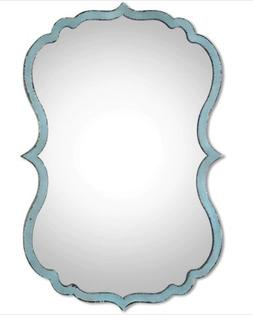 Decorative Mirror Uttermost Nicola in Antique Light Blue Fin