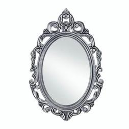 Decorative Mirrors For Walls, Rustic Contemporary Silver Roy