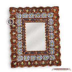 Decorative Rectangular Mirror wall Decor - Hand-Painted Glas