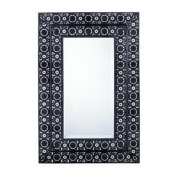 Decorative Wall Mirrors, Moroccan Style Frame Black Wall Mir