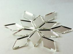 "1"" x 1/2"" diamond shape mirror mosaic tile. 150 pcs"