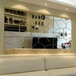 DIY Removable Mirror Decal Art Mural Wall Stickers Home Deco