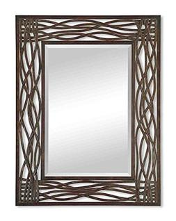 "Uttermost Dorigrass Mirror 0.5 x 32 x 42"", Mocha Brown"