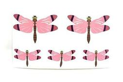 DRAGON FLY Removable Fabric Vinyl DECAL Sticker Set of 5 - 2
