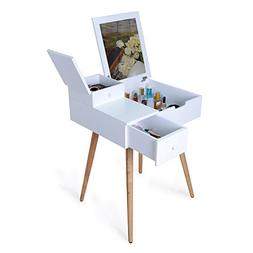 Facilehome Dressing Vanity Table Makeup Desk with Dressing M