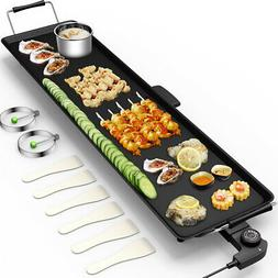 Electric Teppanyaki Table Top Grill Griddle Barbecue BBQ Non