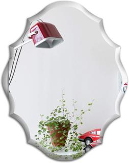 Mirror Trend Emma Shaped Frameless Beveled Mirror With Solid