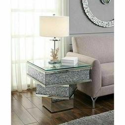 End Table Acme Furniture 81467 The Noralie Mirrored Sparkly