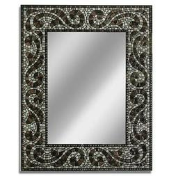 Head West 22 x 28 Espresso Mosaic Mirror 22x28 Inches