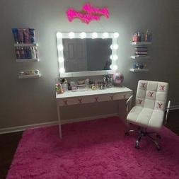 Extra Large, 40x28 Hollywood Style Vanity Makeup Mirror With