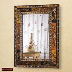 Extra Large mirror Decorative, peruvian painted glass, luxur