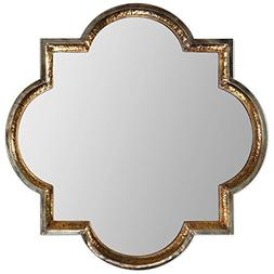 Fancy Regal Hammemetal Frame Wall Mirror Gold Outer Edges Si