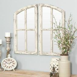 Farm Mirror Arched Country Cottage Shabby Chic Distressed Wi