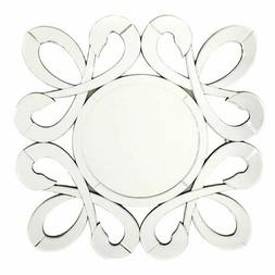 Fab Glass and Mirror Fiori Round Wall Mirror - 31.5W x 31.5H