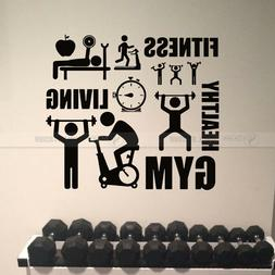 Fitness Gym Healthy Exercise Athletic Vinyl Wall Sticker Dec